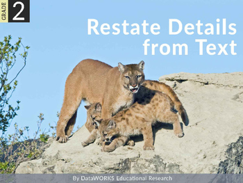 Restate Details from Text