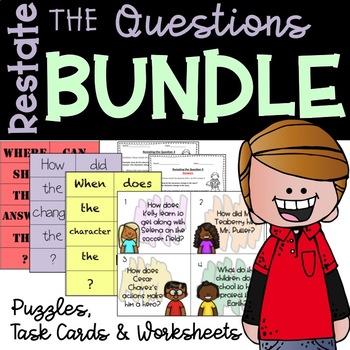 Restate the Question Bundle (Plus Bonus Dice Activity!)