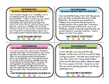 Restate the Question: Fiction Task Cards