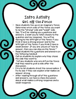 Restate the Question -- Lessons and Activities