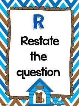 RADD Restate the Question Answering Comprehension Questions Dog Theme