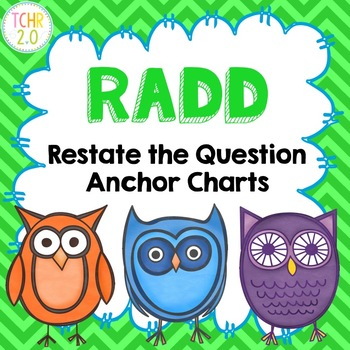 RADD Restate the Question Answering Comprehension Questions Owl Theme