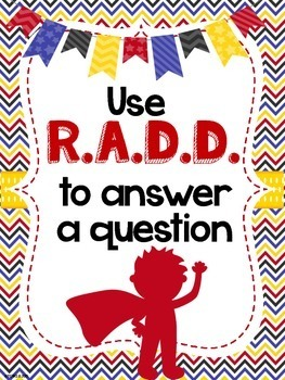 RADD Restate the Question Answering Comprehension Questions Superhero Theme