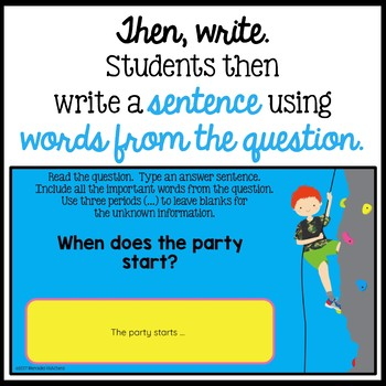 Restate the Question: Sentence Writing for the Google Classroom