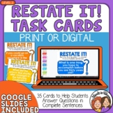 Restate the Question Task Cards (Advanced Set for Grades 4-8)