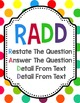 Restate the Question Text Dependent Questions Acronym Posters FREEBIE