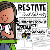 Restate the Question Practice {an Introduction & Guided Activity}
