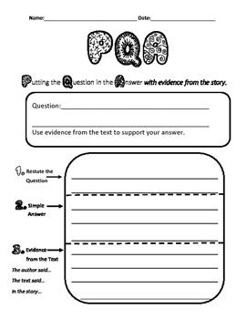 Restate the Question in Your Answer with Evidence Graphic Organizer