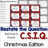 Christmas Task Cards Writing Sentences with CSIQ