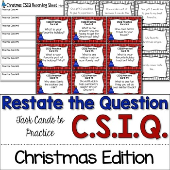 Restate the Question with CSIQ: Christmas Edition