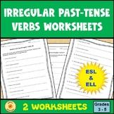 Irregular Verbs Past Tense and Restate Question Worksheet ESL ELL