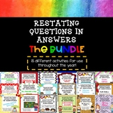 Restating Questions in Answers Bundle (Answering in Complete Sentences)