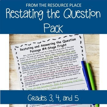 Restating the Question!