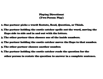 Restating the Question Activity 4th 3rd 2nd Grade Reading Comprehension
