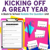 Restating the Question: An Introduction through Oral Language | Back to School