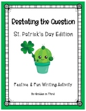 Restating the Question Printable Activity St. Patrick's Day Writing RAPP RACE