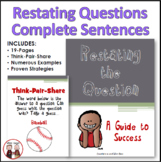 Restating the Question Teaching Students How to Write Comp