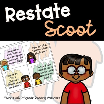 Restating the Question Cards (A 2nd grade Reading Wonders Resource)