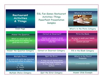 Restaurant Activities-Things PowerPoint Presentation