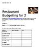 Restaurant Budgeting Packet