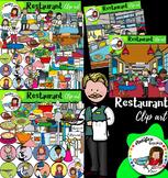 Restaurant Clip Art- Big set of 118 images!