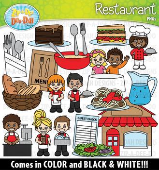 Restaurant Community Helpers Clipart {Zip-A-Dee-Doo-Dah Designs}