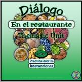 Food topic:  Restaurant Dialogue - En el restaurante