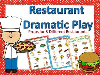 Restaurant Dramatic Play Bundle {3 Sets}