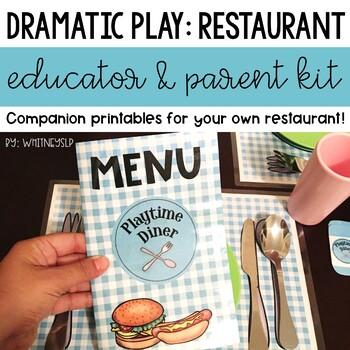 Restaurant Dramatic Play Center Educator & Parent Kit