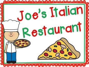 Restaurant Dramatic Play {Italian Restaurant}