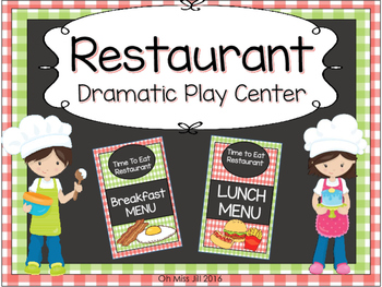 Restaurant Dramatic Play Set