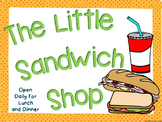 Restaurant Dramatic Play {The Little Sandwich Shop}