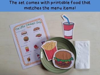 Restaurant Dramatic Play {The Little Sandwich Shop}