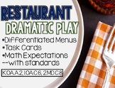 Restaurant Dramatic Play connecting to CCSS