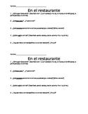 Restaurant Fieldtrip Activity for Spanish Class