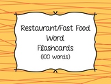 Functional Reading - Restaurant and Food Sight Word Flashcards