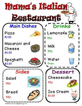 Restaurant & Grocery Store Dramatic Play Center