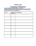 Restaurant Manager Project: Employee Sheet