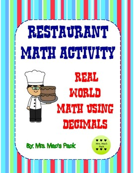 Math Activity - Create a Restaurant- Decimal Operations Review