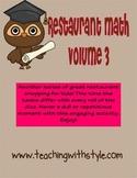 Restaurant Math Volume 3