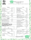 Restaurant Menu: Addition and Evaluation of Algebraic Expressions