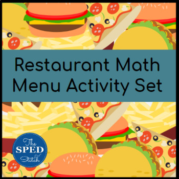 Restaurant Menu Math Activity Set