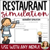 Restaurant Menu Activity   Free and Editable