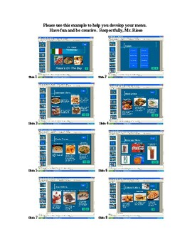 Restaurant Menu with PowerPoint (Interactive) | Visual Guideline Included