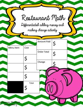 Restaurant Money Activity