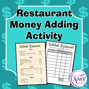 Restaurant Money Adding Activity