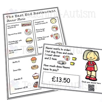 Life Skills Ordering Items in a Restaurant and Money Recognition UK