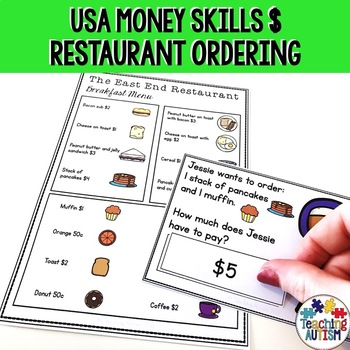 Life Skills Ordering Items in a Restaurant and Money Recognition USD