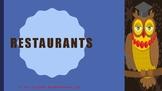 The Blue Cloud Bubble ESL PDF/PowerPoint Lesson-Restaurants