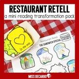 Restaurant Retell: Reading Mini-Pack